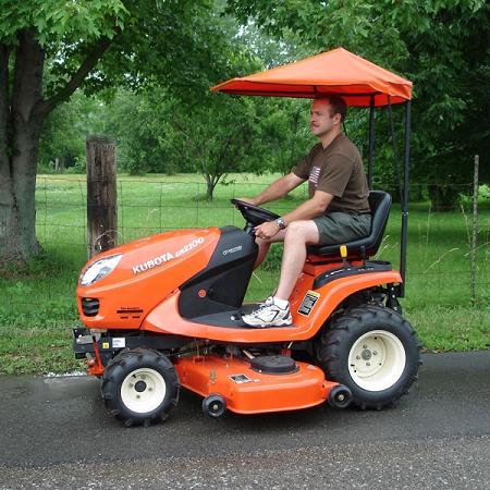 Canopy for hustler mower