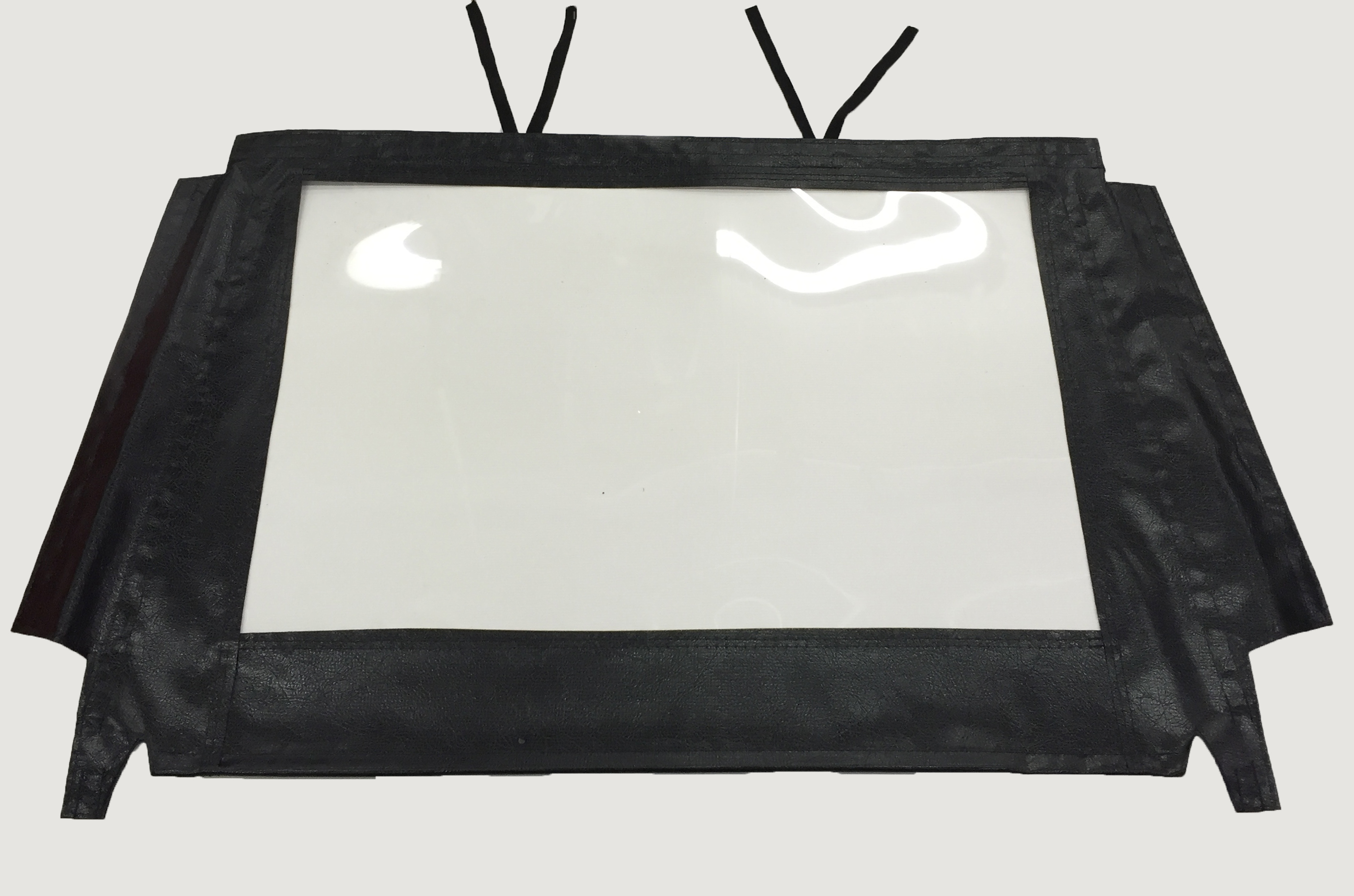 Replacement Soft Windshield with Black Vinyl