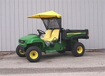Original Tractor Cab 2010 and Newer John Deere T Series 4x2 Gator Sunshade with deluxe cargo box/bed.