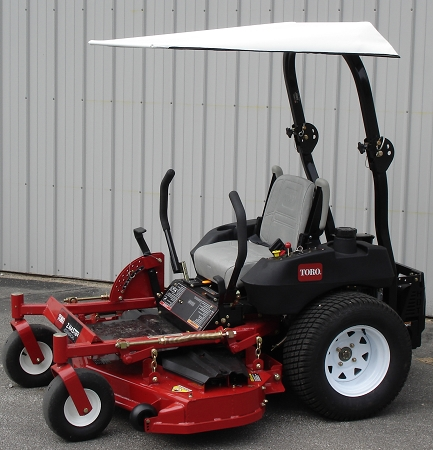 Universal Sun Shade For Zero Turn Mowers And Tractors With