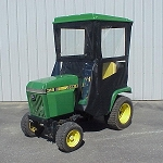 Original Tractor Cab Hard Top Cab Enclosure Fits John Deere 318 Lawn & Garden Tractors & 316 with Onan engine