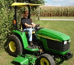 Universal Sun Shade For Zero Turn Mowers and Tractors with ROPS Bars