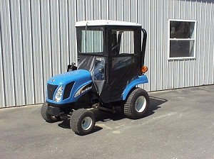 Hard Top Cab Enclosure For New Holland TZ Tractors and Case DX 18-25 Tractors